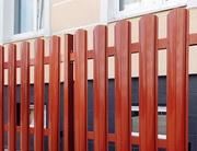 Забор штакетник из профнастила